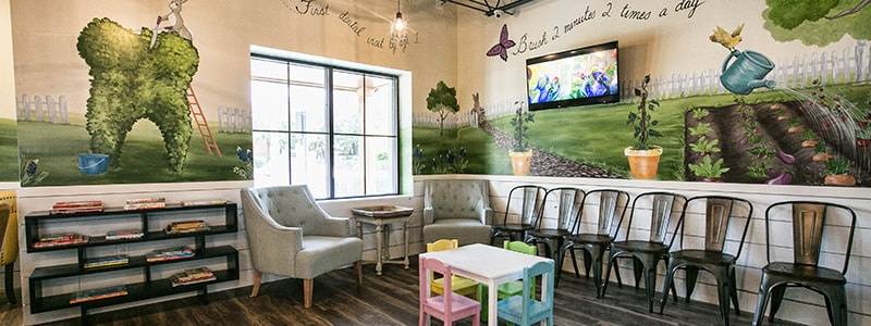 Waiting area of sunshine pediatric dentistry